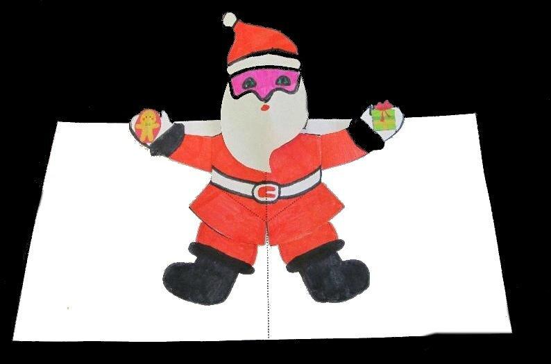 Une autre carte pop up : le Père Noël