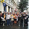 Grande marche orange samedi apres-midi