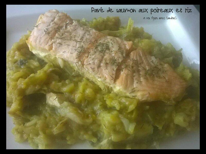 pavé de saumon aux poireaux 0