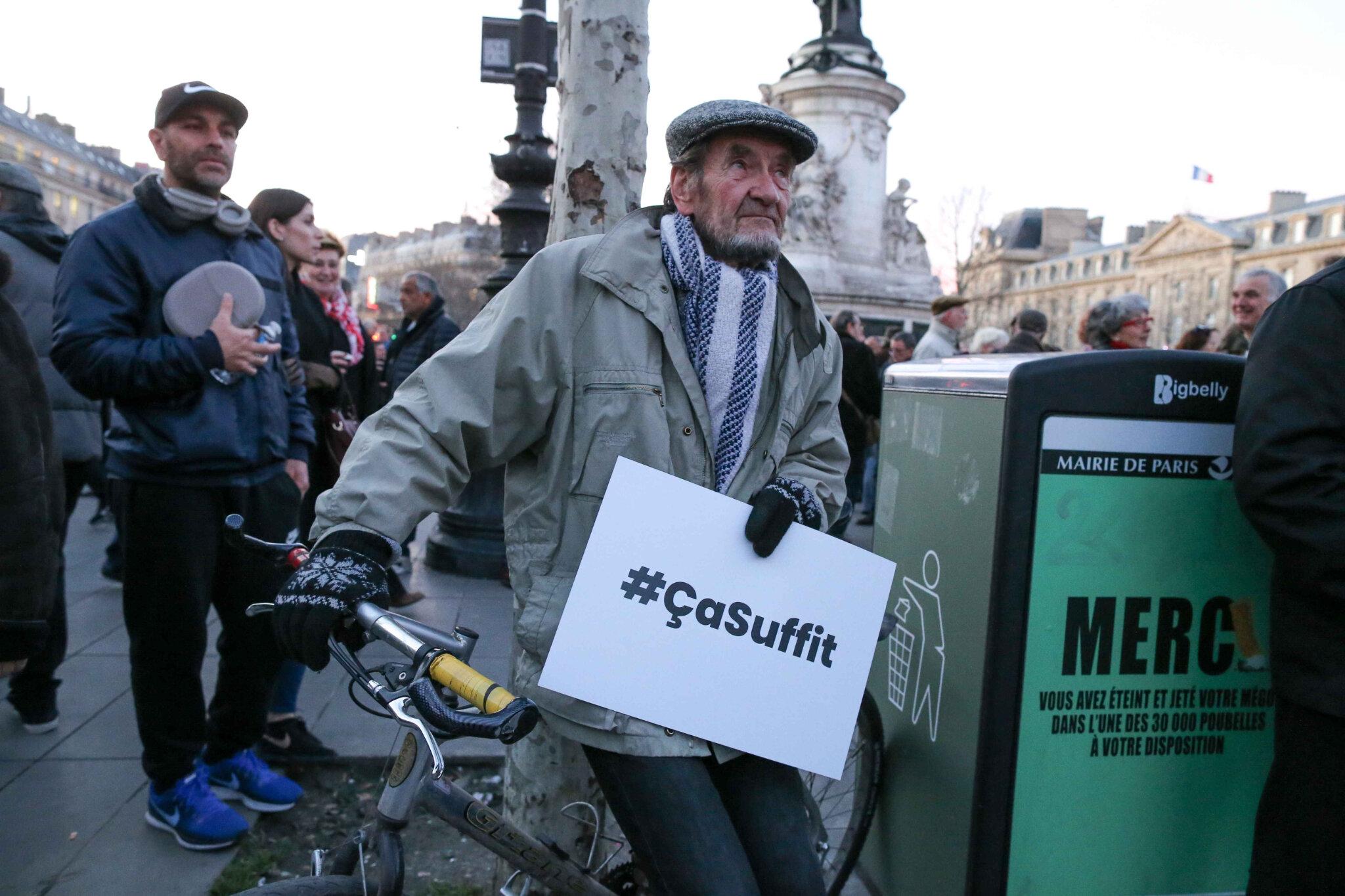 Non à l'antisémitisme : des milliers de personnes place de la République. © Michel Stoupak. Mar 19.02.2019, 18h28m07.