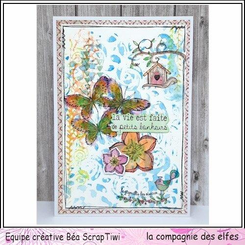 Carte Bonus Cie des Elfes - Thème Printemps