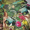 Veste VICTORINE en toile de coton imprimée montagne du tyrol - Doublure de satin noir (11)