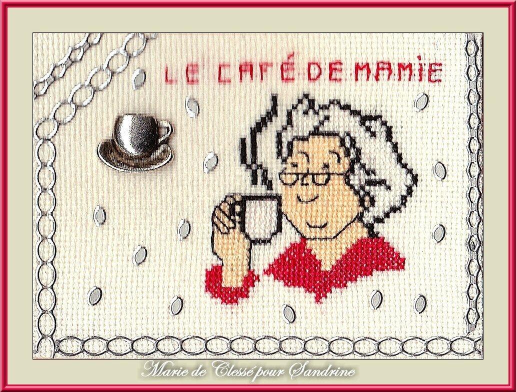 Échange ATC Perso avec Sandrine (Café-Chocolat) Marie de Clessé pour Sandrine 1