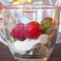 Crème glacée au chocolat blanc et poudre de noisettes (sans sorbetière)
