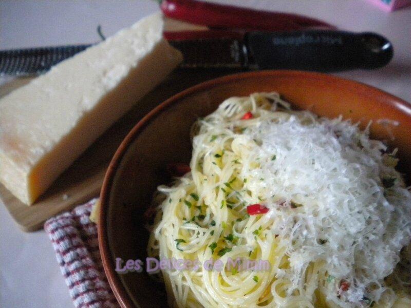 Spaghetti aglio e olio (Spaghetti à l'ail et à l'huile) 3