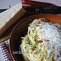 Spaghetti aglio e olio (spaghetti à l'ail et à l'huile)