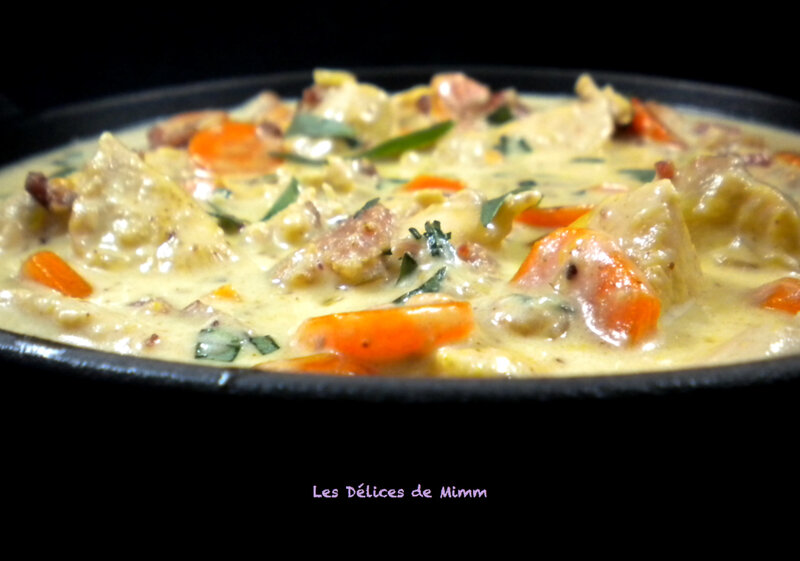 Filets de poulet aux lardons et à l'estragon 2