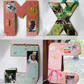 Lettre en carton décorée