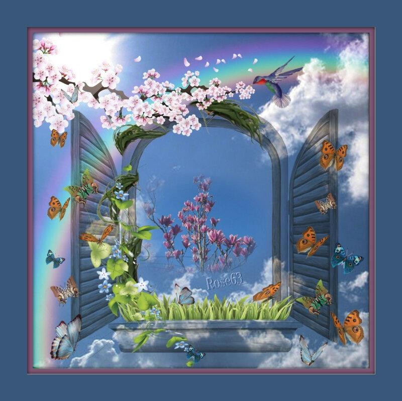 Fenêtre sur l'Allier Rose63
