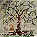 CREASMERYEM BRODERIE SAL 4 saisons : arbre de printemps