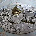 Peinture sur bouillottes metalliques