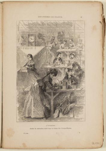 Hadol, l'ouvrière, atelier de cartouches établis dans le Cirdque des Champs-Elysées