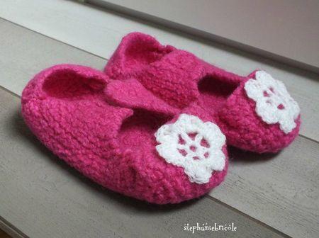 tuto chausson en laine feutrée