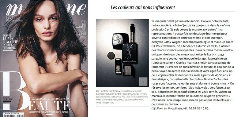 Eveil au Maquillage dans Madame Figaro novembre 2015