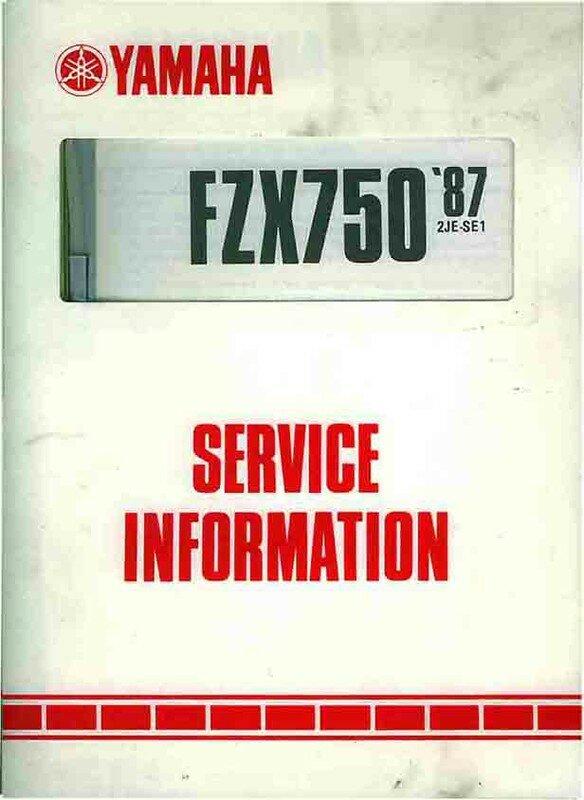 REVUE TECHNIQUE FZX 750 TÉLÉCHARGER