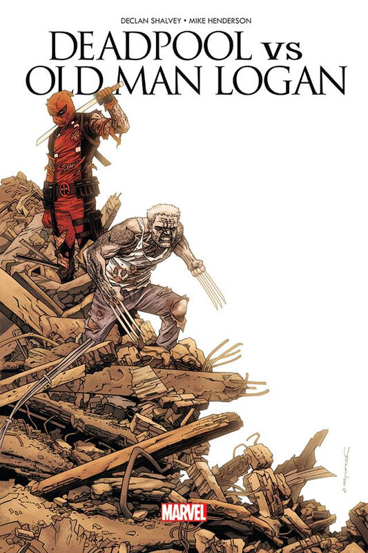 100% marvel deadpool vs old man logan le clown et le vieux