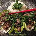 Boeuf et porc hachés à la thaï