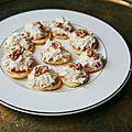 Meatless christmas - blinis au radis noir et noix