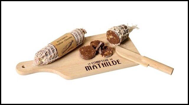 le comptoir de mathilde saucisson chocolat praline noisettes 1