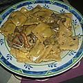 Ravioles sauce pesto a l'ail des ours, giroles et creme