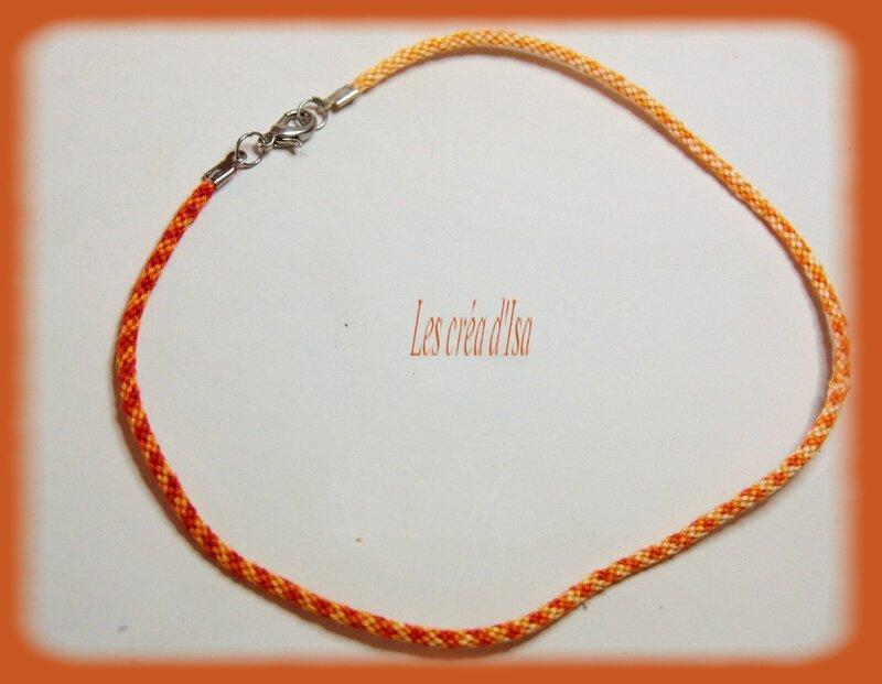 bracelet kumihimo orange