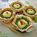 Tartelettes chevre et brocolis