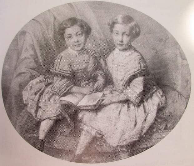 Camille et Madeleine de Malaret, les petites filles modèles.