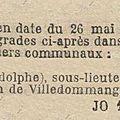 1920 26 mai : adolphe cogne sous-lieutenant de pompiers
