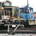 A St Pierre des corps, locomotives et locotracteurs en différent