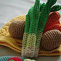 Crocheter des fruits et légumes