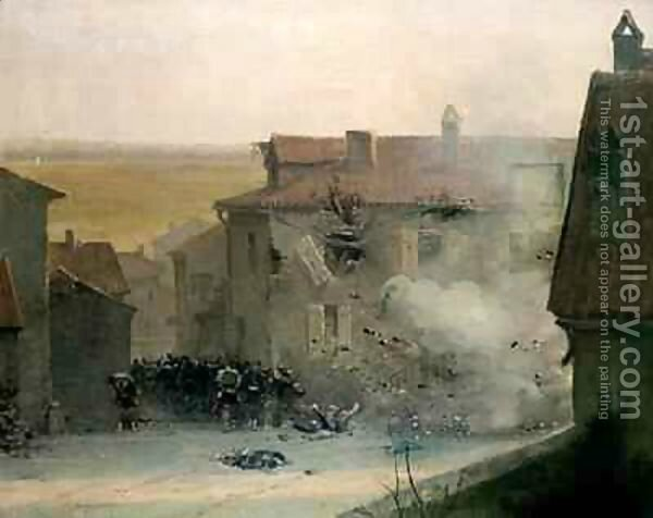 Detaille, war torn village