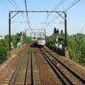 En croisant un TGV