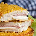 Escalopes de poulet cordon bleu