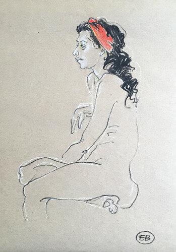 #croquisdenu modele vivant living model Etienne Bonnet Croquis nu dessin peinture Golden Blog Awards nude drawing sketch C IMG_2165