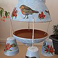 Une mangeoire à oiseaux