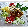 Un curry de veau et son accompagnement......