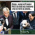 Mémé brizitte rend visite à bébé panda...