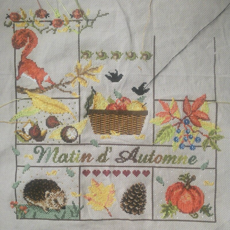 madamelafee cross stitch вышивка крестиком point de croix automne