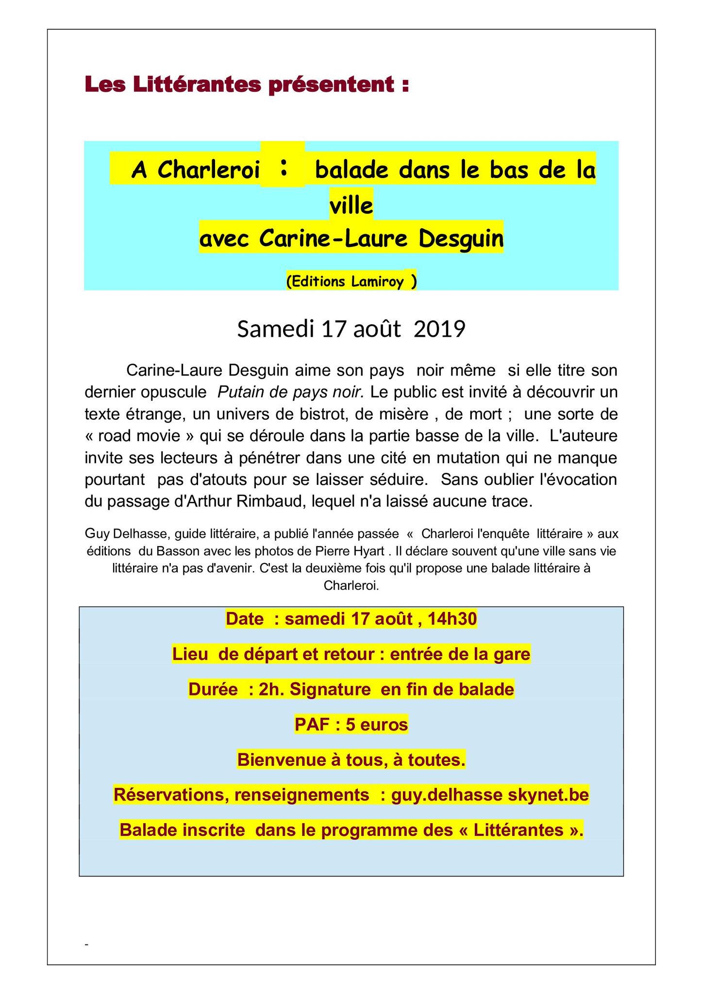 CHARLEROI, BALADE DANS LE BAS DE LA VILLE!