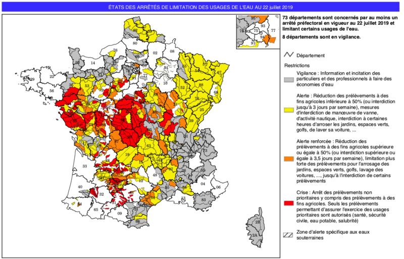 sécheresse_carte_France_juillet_2019_arrêté_vigilance_alerte_crise