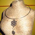 collier roulement fleurs