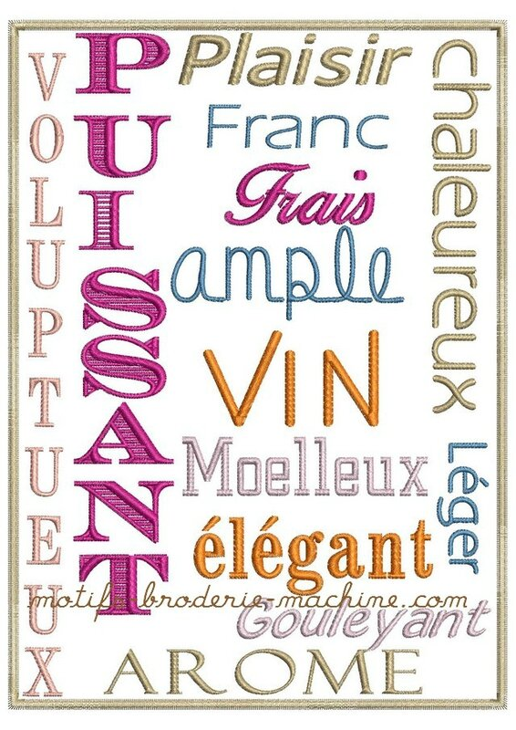 557 vocabulaire vin photo cadre