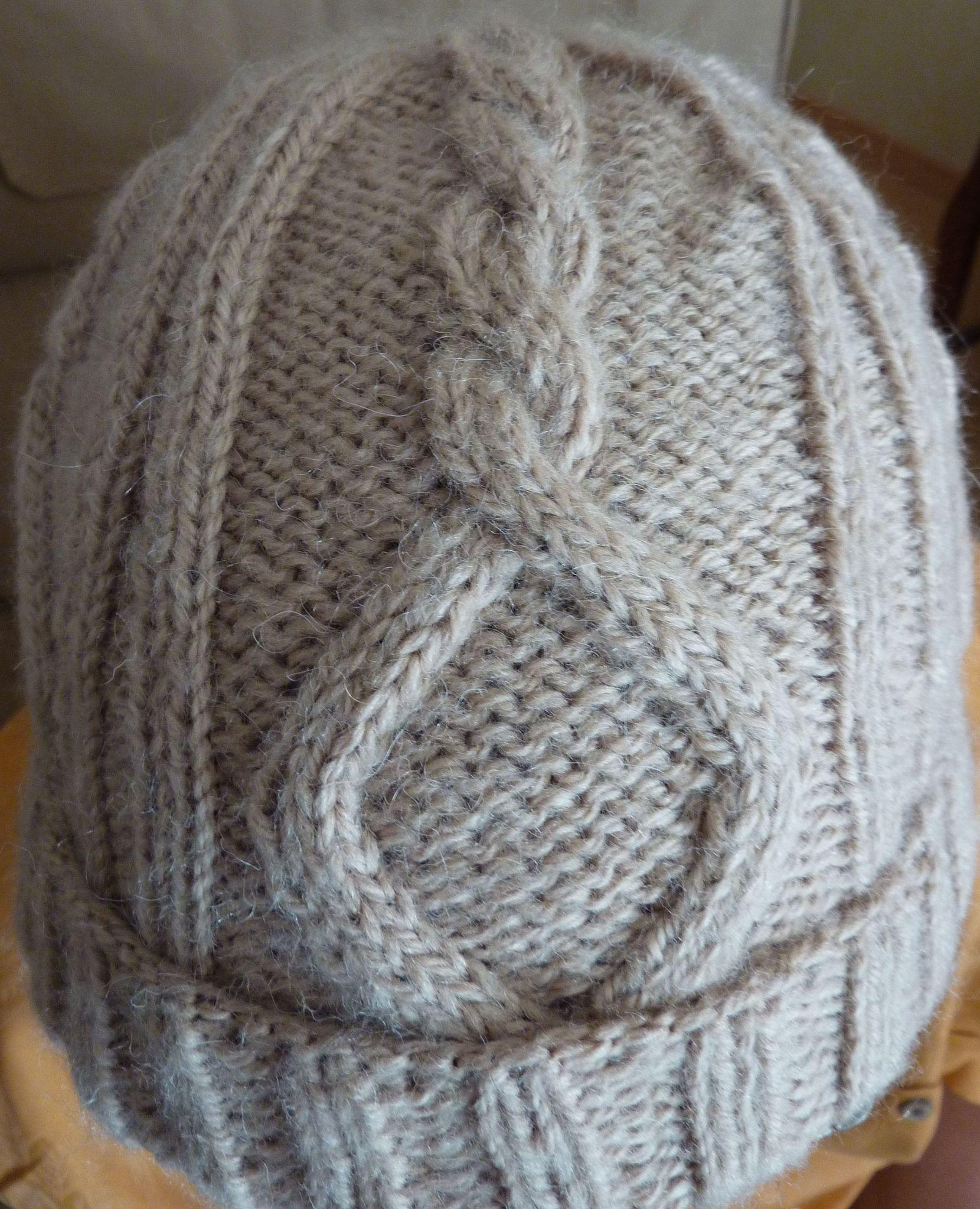 bonnet à torsades Camel