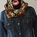 Foulard snood savanne