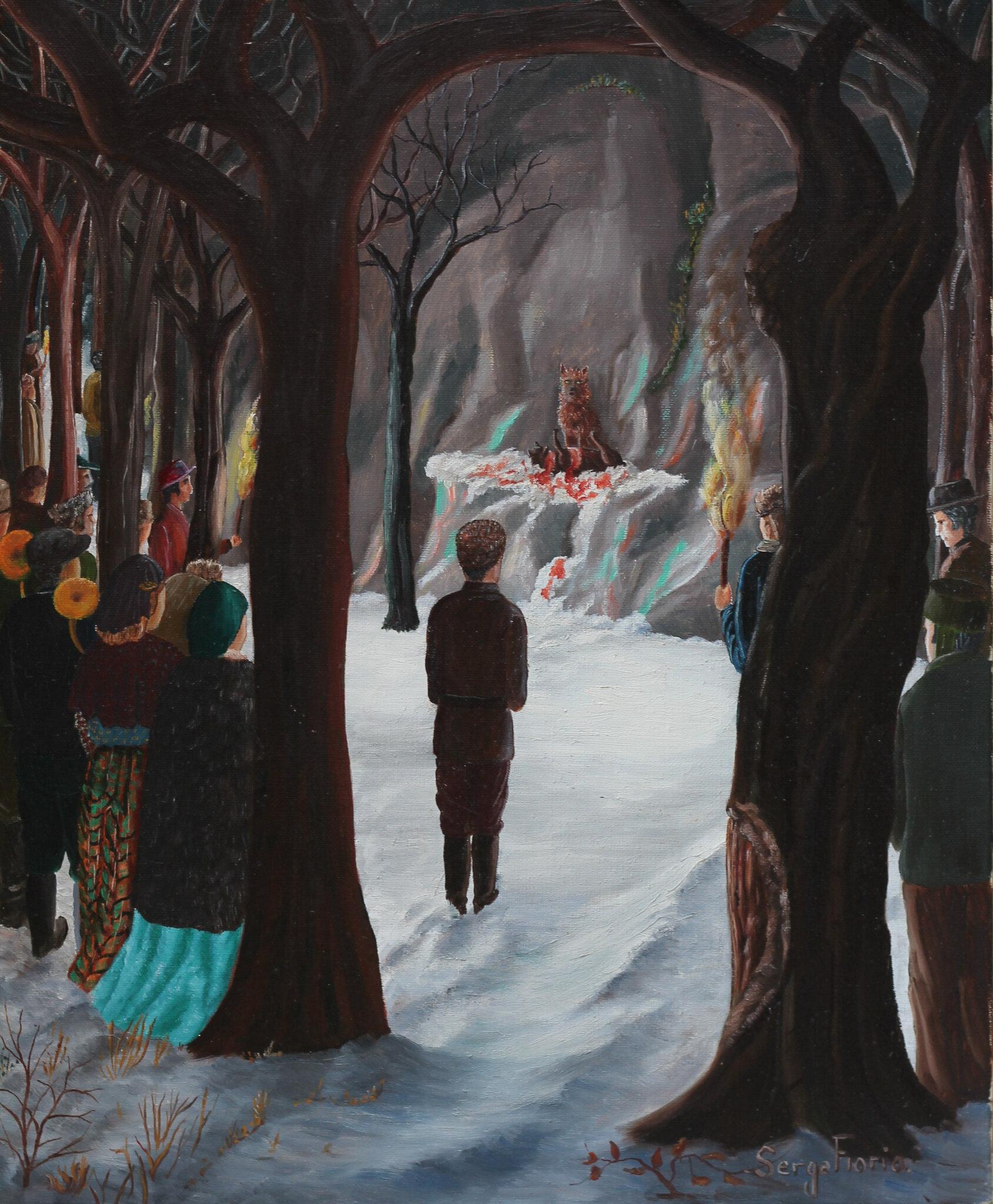 Giono au Mucem. Inédite, une somptueuse illustration pour une scène majeure d'Un Roi sans divertissement.