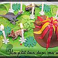 P'tit gâteau d'anniversaire dinosaures
