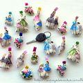 Porte-clés vintage dolls Au pays des Cactus