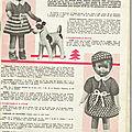 Robe en crochet pour poupée - echo de la mode 16/12/1956