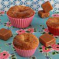 Petits gâteaux fondants aux poires cœur caramel