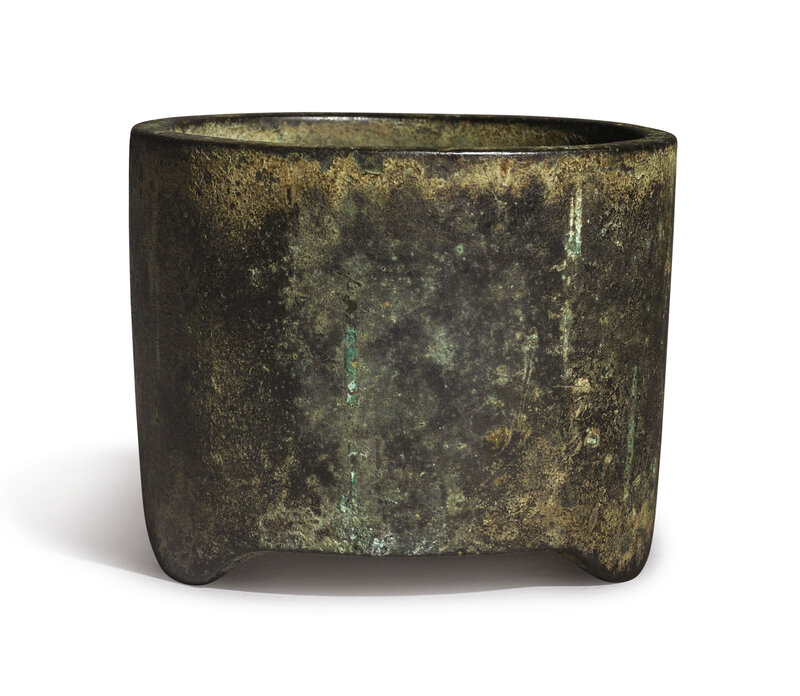 An extremely rare bronze censer, Qing dynasty, Yongzheng period, dated jiyou year, corresponding to 1729
